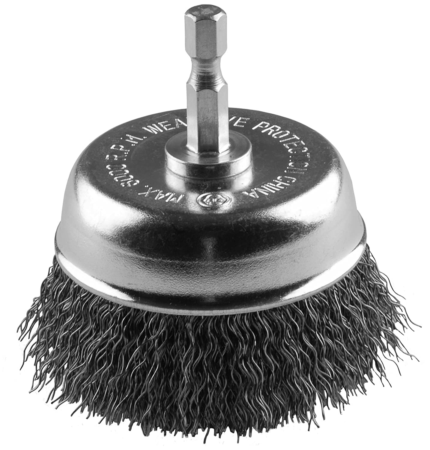Hot Max 26218-5 3 Mounted Cup Brush with 1//4 Hex Shank and 0.12 Wire 5 Pack