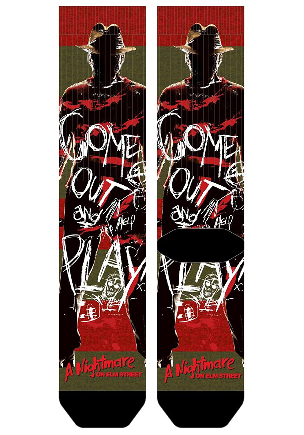 Nightmare on Elm Street Freddy Krueger Sublimated Socks Standard CQ5BC8NOE