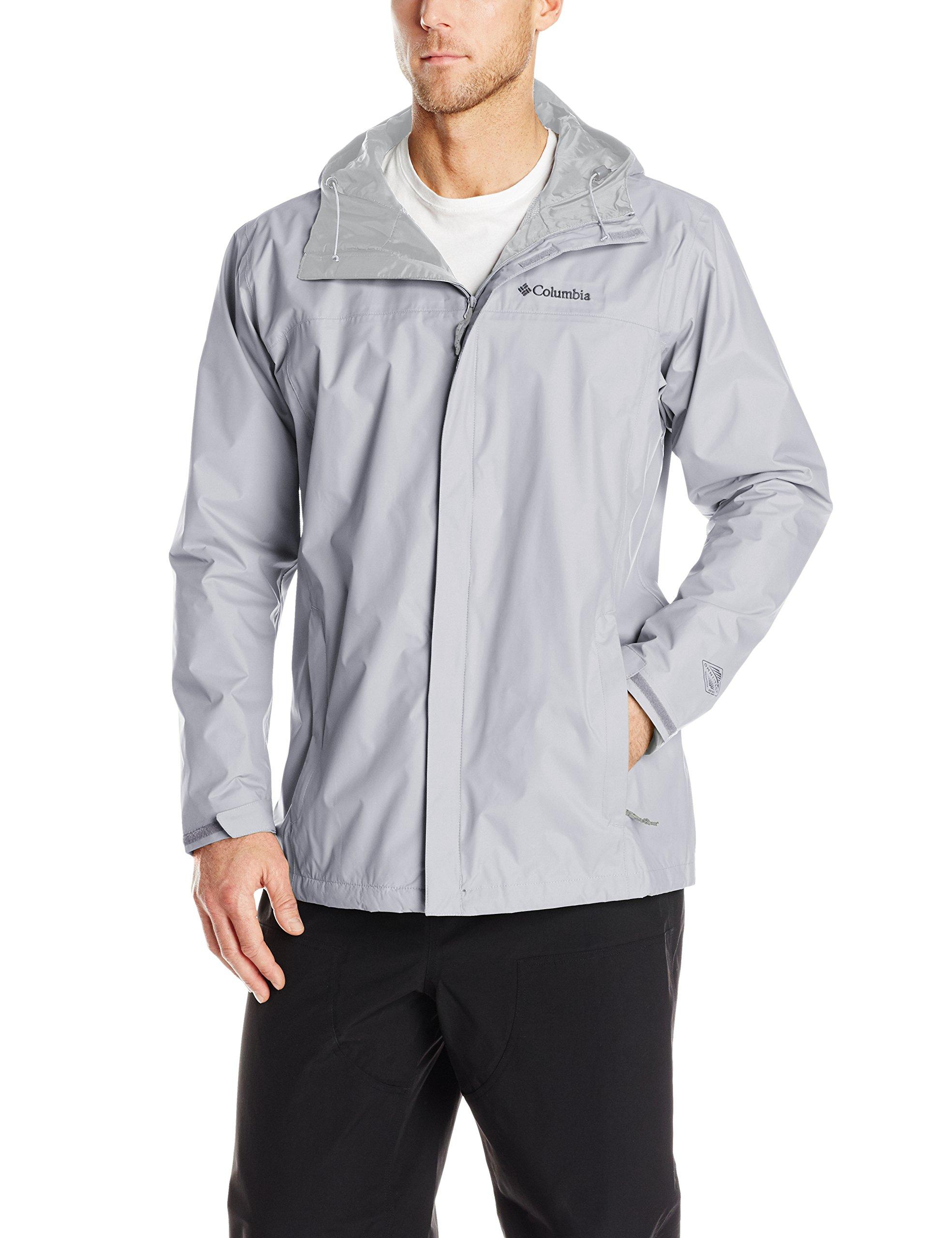 Columbia Men's Big & Tall Watertight II Packable Rain Jacket,Columbia Grey,3X/Tall