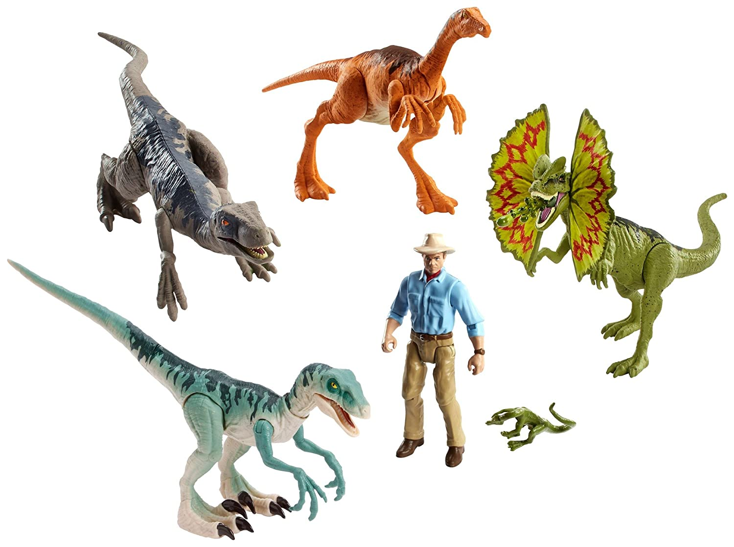 Jurassic World Details About Legacy Collection Dinosaur 6 Pack with Alan Grant Jurassic Park
