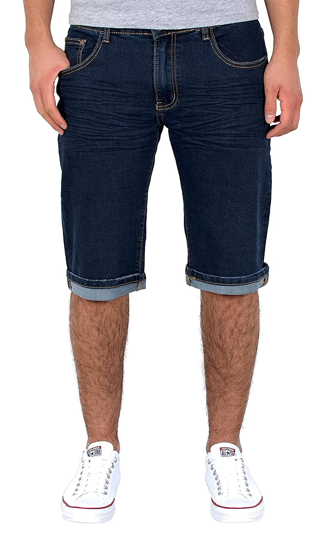 by-tex Homme Jean short hommes Basic bermuda shorts court Jeans grandes  tailles A380 c6602130dea