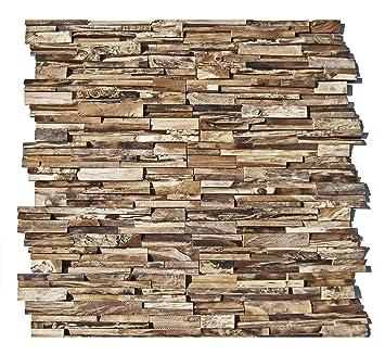 Ho 003 1 Wandpaneele 3d Teak Holz Verblender Wandverblender
