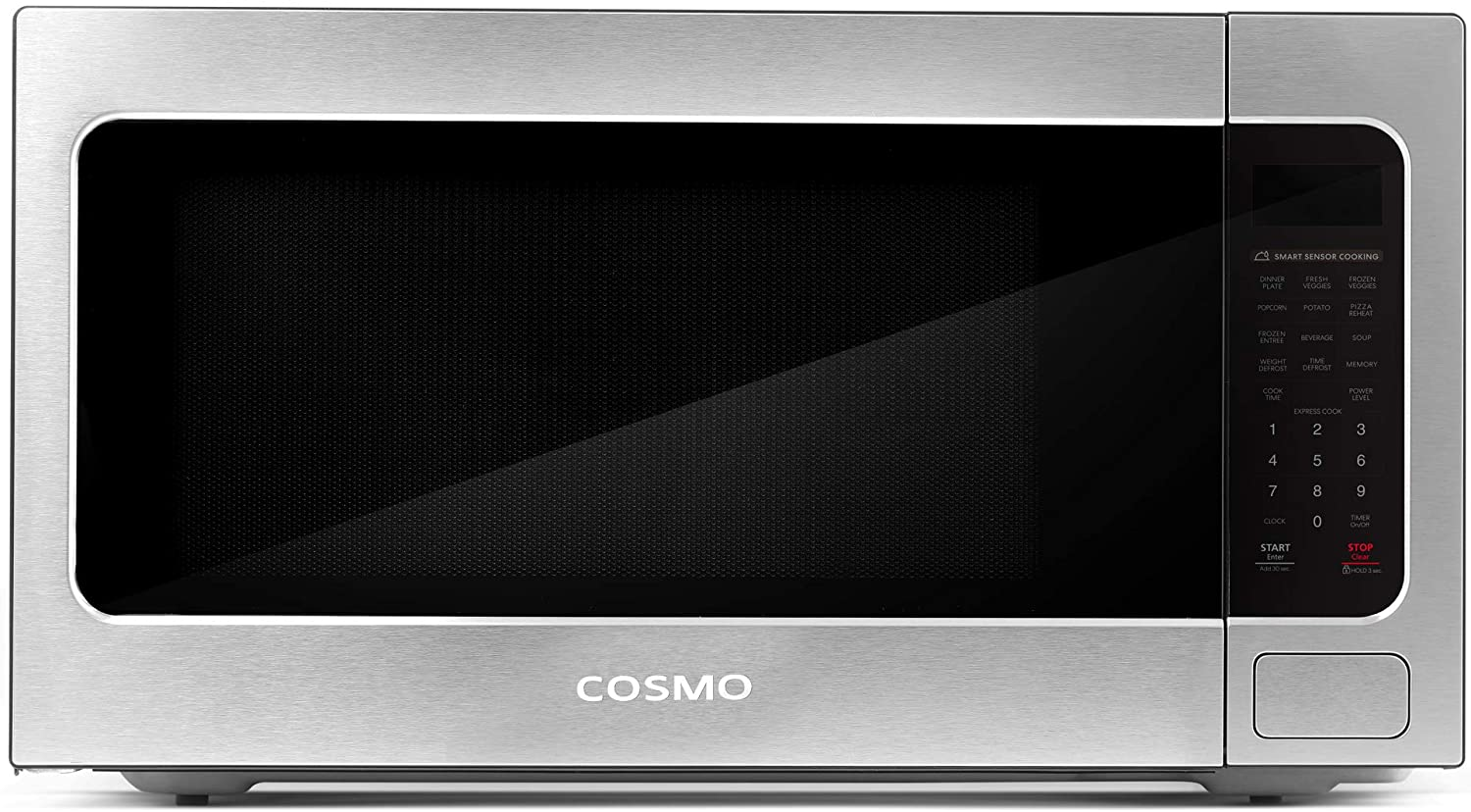 Cosmo COS-BIM22SSB Countertop/Built-in Microwave Oven with Smart Sensor, Touch Presets, 1200W & 2.2 cu. ft. Capacity, 24 inch, Stainless Steel