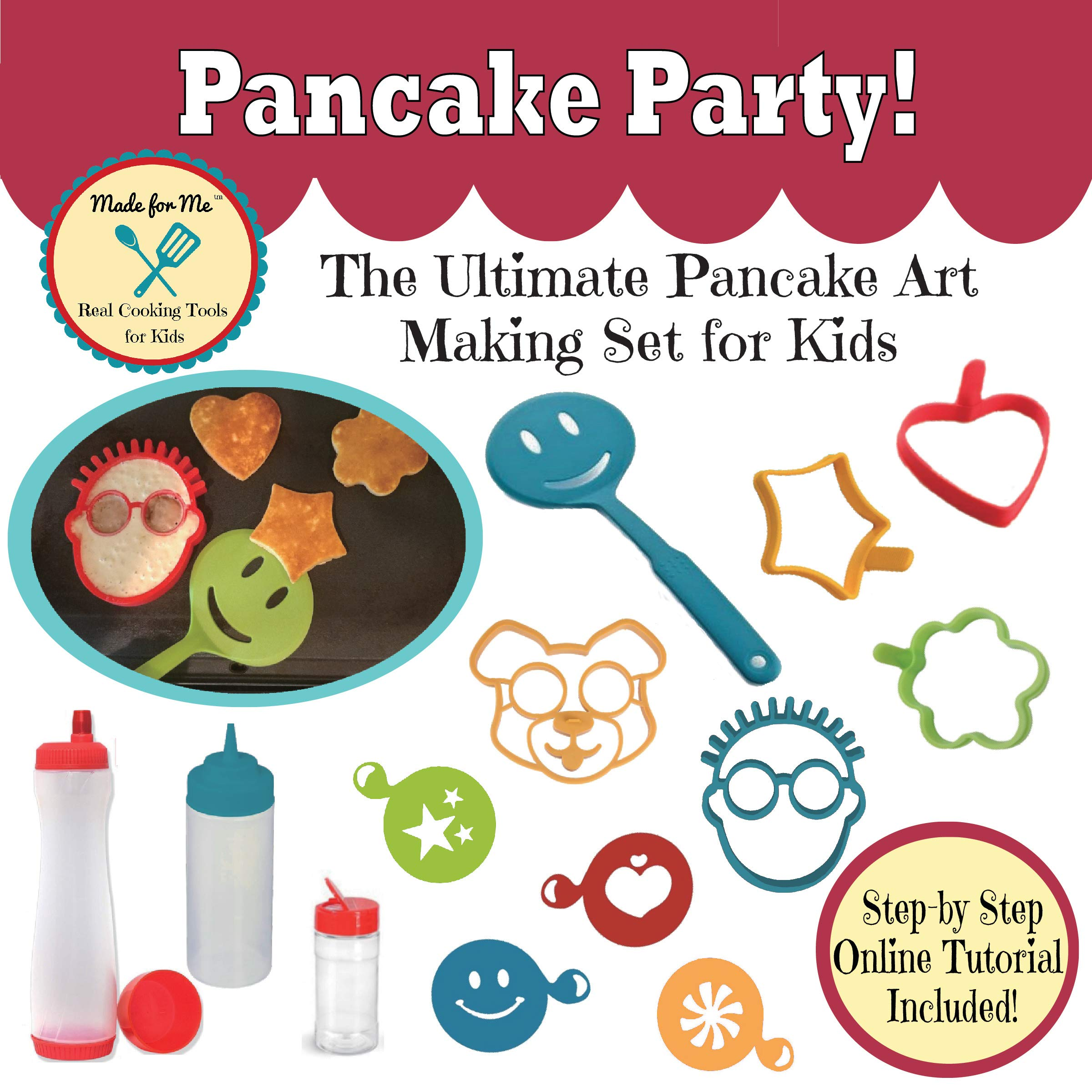Pancake Party! The Ultimate Pancake Art Making Set for Kids - An excellent educational gift for children, young chefs, bakers! Great cooking, baking pancake making kit for boys and girls!