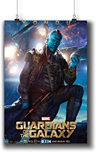 Guardians of The Galaxy (2014) Movie Poster Small Prints 337-021,Wall Art Decor for Dorm Bedroom Living Room (A4|8x12inch|21x29cm)