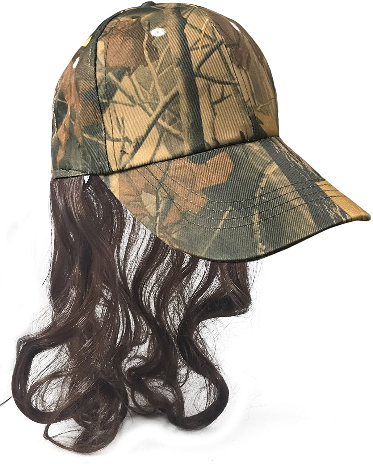 Amazon.com: Camouflage Billy Ray Hat with Brown Mullet Hair! Bed ...