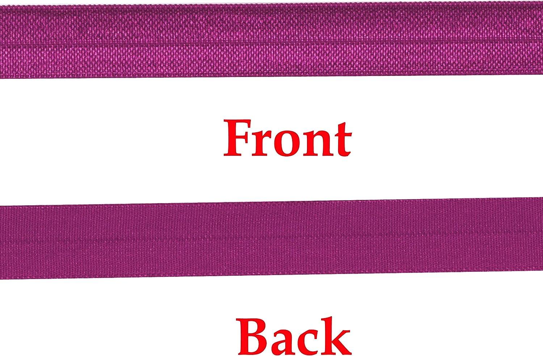 Red Foil Lips- Fold over elastic FOE Purple Background ribbon stretch- TiesNSupplies Custom Design