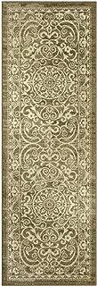product image for Maples Rugs Pelham Vintage Runner Rug Non Slip Hallway Entry Carpet [Made in USA], 2 x 6, Khaki (AG4055701)