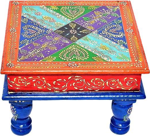 Jaipur handicrafts hub - Taburete de Madera Hecho a Mano para ...