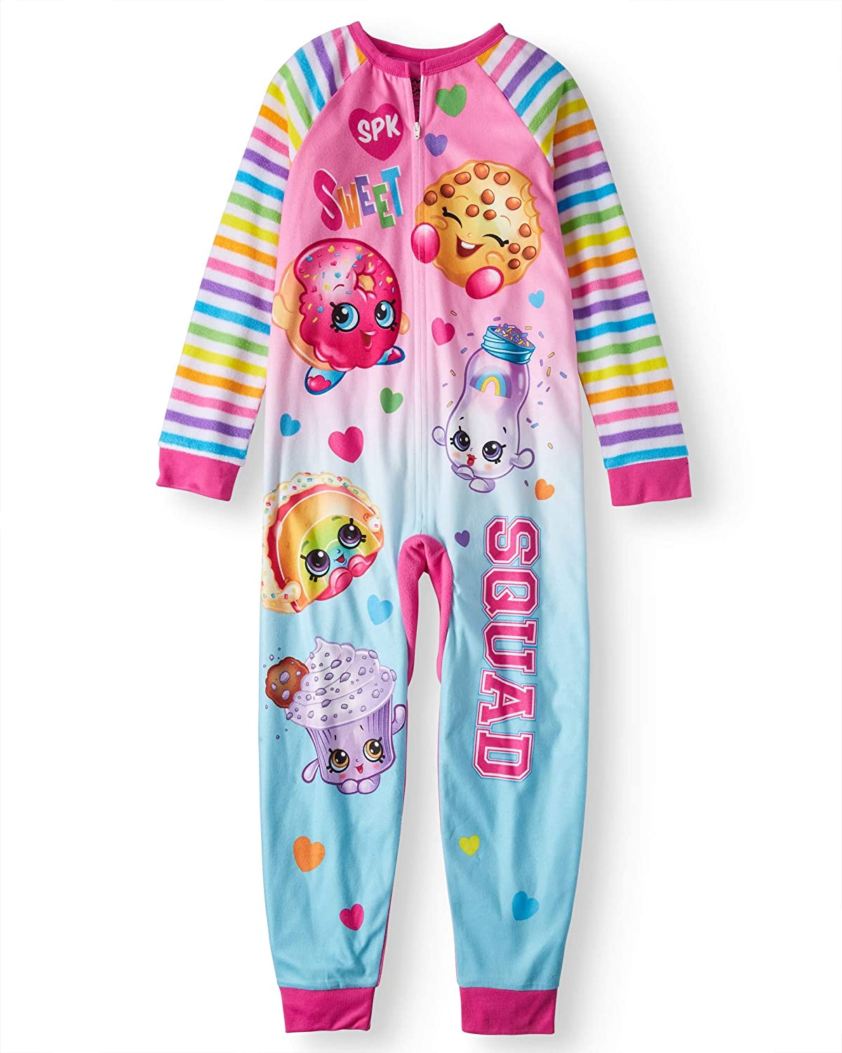 Characters Little Girls Shopkins Poly 1-Piece Footless Sleeper Pink