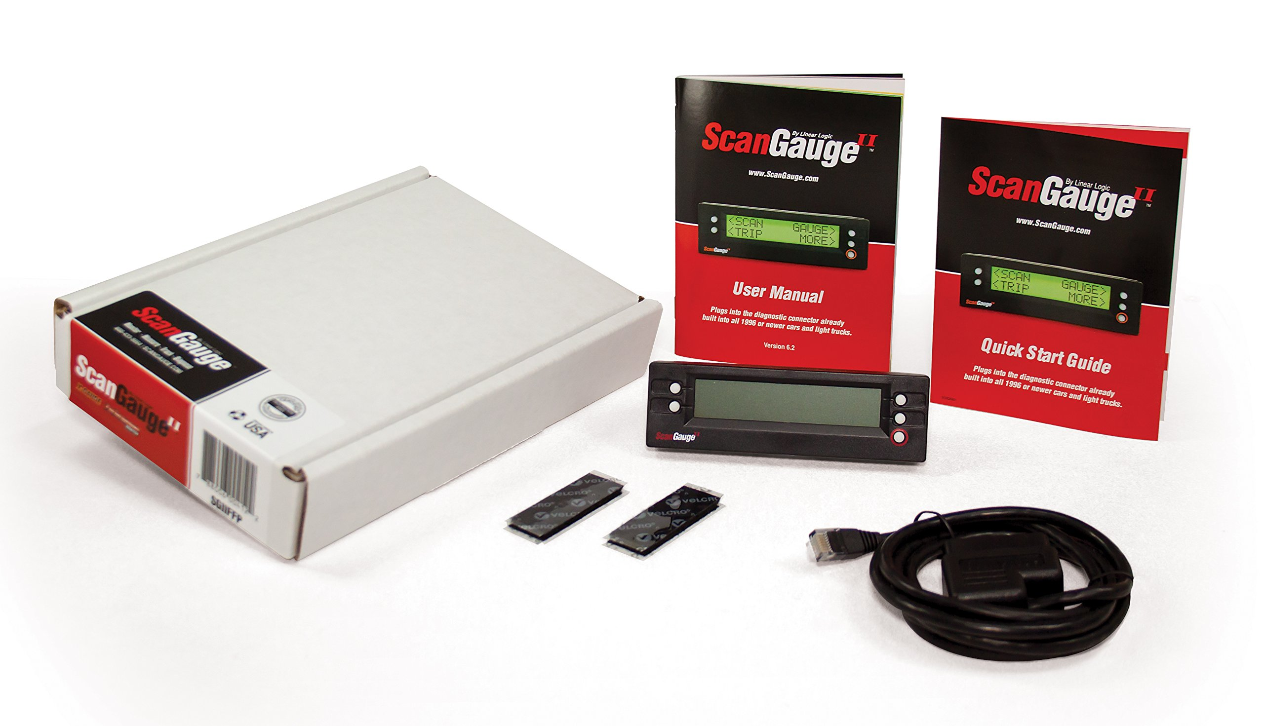 ScanGauge SGIIFFP Ultra Compact 3-in-1 Automotive Computer with Customizable Real-Time Fuel Economy Digital Gauges (Frustration Free) by ScanGauge
