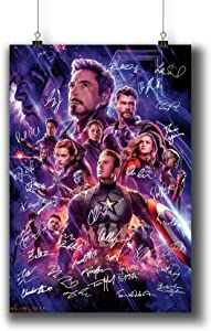Avengers: Endgame (2019) Movie Poster Small Prints 183-301 Reprint Signed Casts,Wall Art Decor for Dorm Bedroom Living Room (A4 8x12inch 21x29cm)