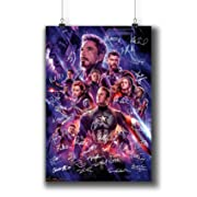 Avengers: Endgame (2019) Movie Poster Small Prints 183-301 Reprint Signed Casts,Wall Art Decor for Dorm Bedroom Living Room (A4|8x12inch|21x29cm)