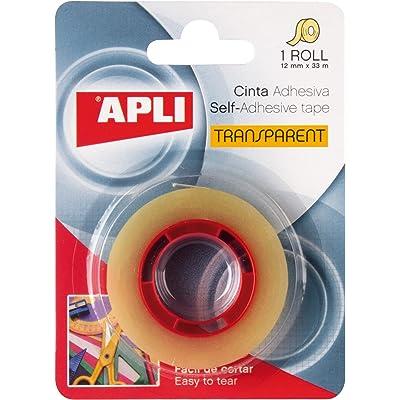 APLI 11517 - Cinta adhesiva celo transparente 12 mm x 33 m
