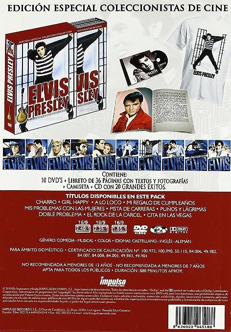 Amazon.com: Pack Elvis El Rey Del Rock (10 Dvd + Cd) [Dvd ...