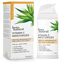 InstaNatural Vitamin C Moisturizer - Anti Aging & Wrinkle Cream - Hyaluronic Acid...