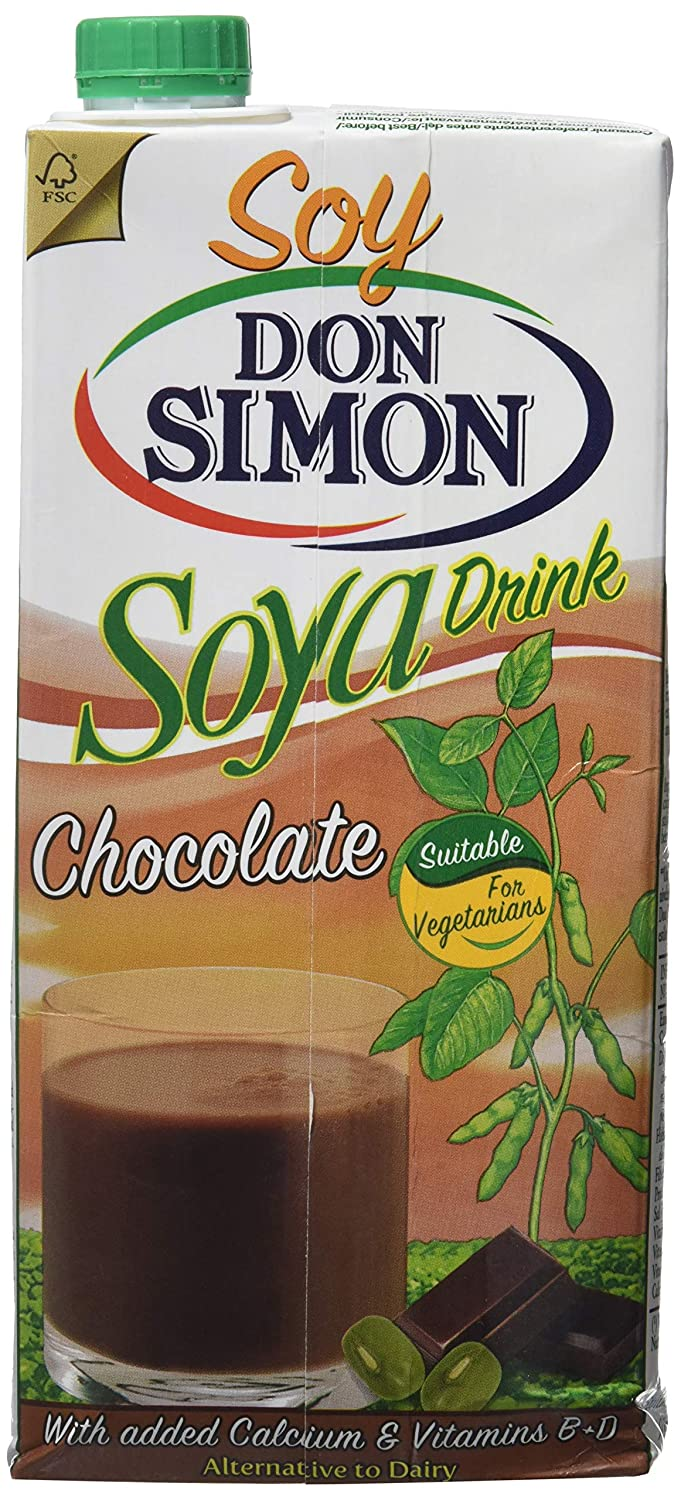 Don Simon Bebida de Soja con Chocolate - Paquete de 12 x 1000 ml - Total: 12000 ml: Amazon.es: Amazon Pantry