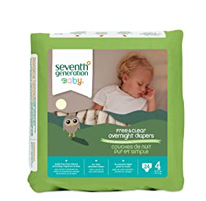 Seventh Generation Baby Free & Clear Overnight Diapers Review