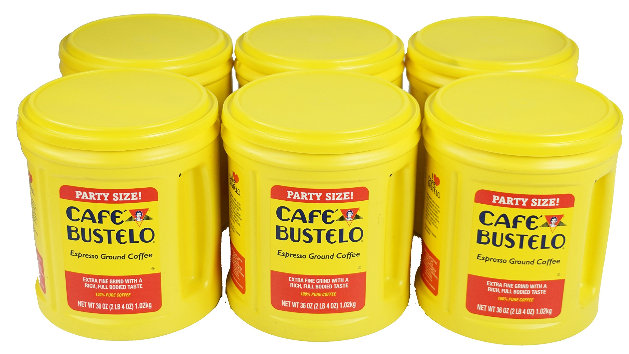 Cafe Bustelo Espresso Coffee, 36 Ounce Cans (Pack of 6)
