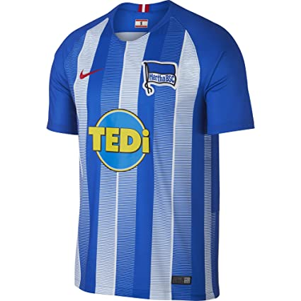 d9198cf9e Amazon.com   NIKE 2018-2019 Hertha Berlin Home Football Soccer T ...