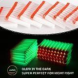 Geekper 200Pcs Refill Darts for Nerf N-Strike Elite Modulus Glow at Dark Bullets (White) - Kid's Fun