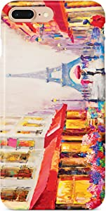 Monarque iPhone Case with Smooth Premium Durable Scratch-Resistant TPU Material with Paris Design Fit for iPhone 6 Plus iPhone 7 Plus iPhone 8 Plus
