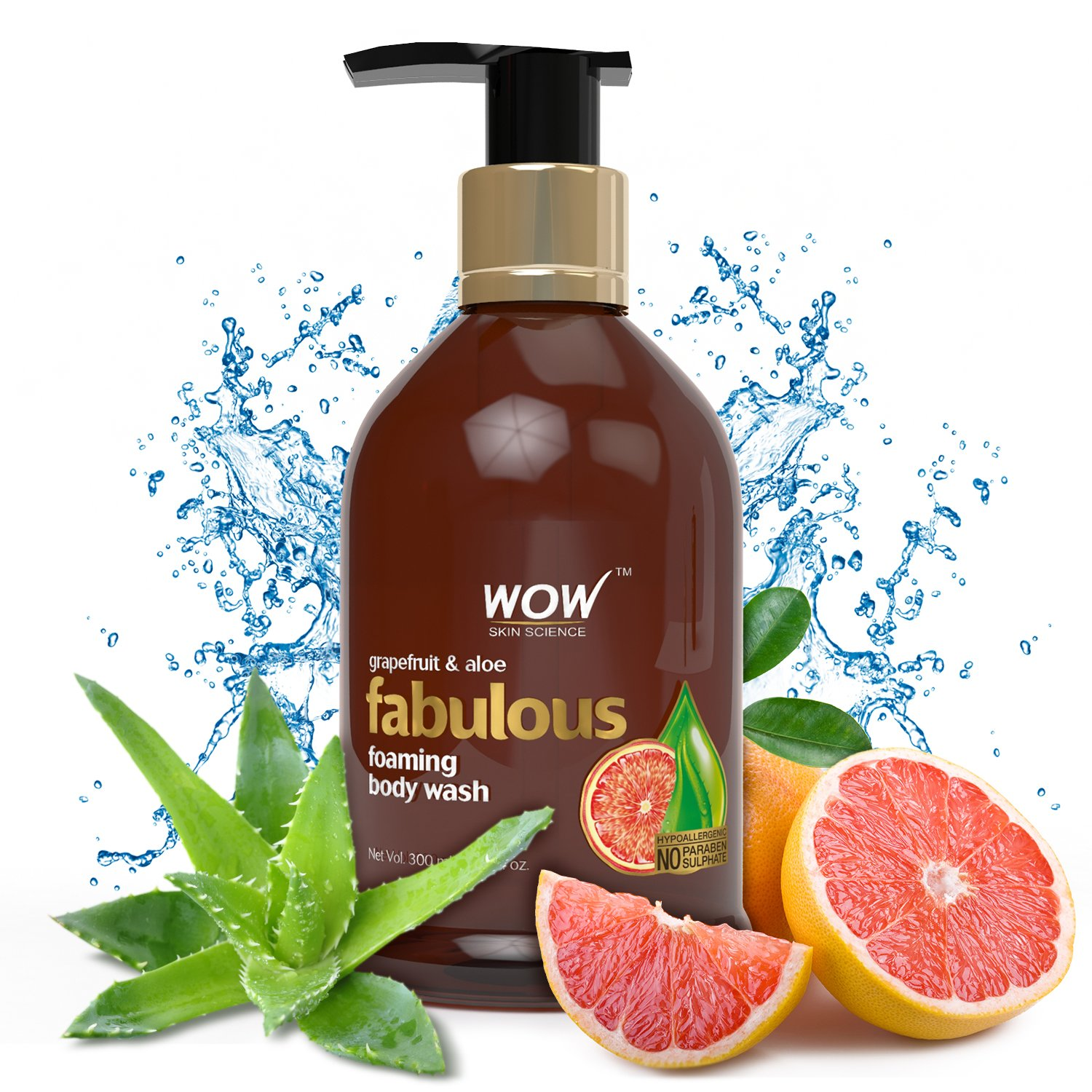 WOW Grapefruit & Aloe No Parabens & Sulphates Shower Gel, 300mL