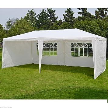 livivo® Extra grande parte Gazebo con 4 paneles desmontable y 2 ventanas visibles – Ideal