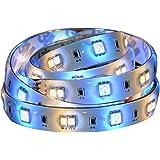 AwoX StripLED SSL-C362-C - Cinta LED Bluetooth con alimentación, de plástico, 24W, color blanco/multicolor, 2m