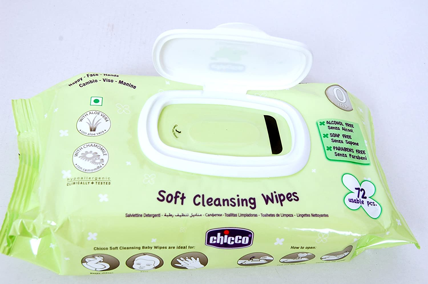 Buy Chicco Baby Moments Wet Wipes With Flip Top Parabeen Free 16 Pcs Skincare Gentle Soft Cleansing Anti Bacterial Fresh