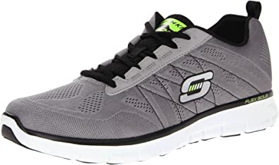 Skechers Mens Synergy Power Switch Lace Breathable Mesh Trainer Grey Vc35MCsiw