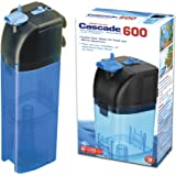 Penn Plax Cascade 600 Submersible Aquarium Filter Cleans Up to 50 Gallon Fish Tank With Physical, Chemical, and Biological Filtration