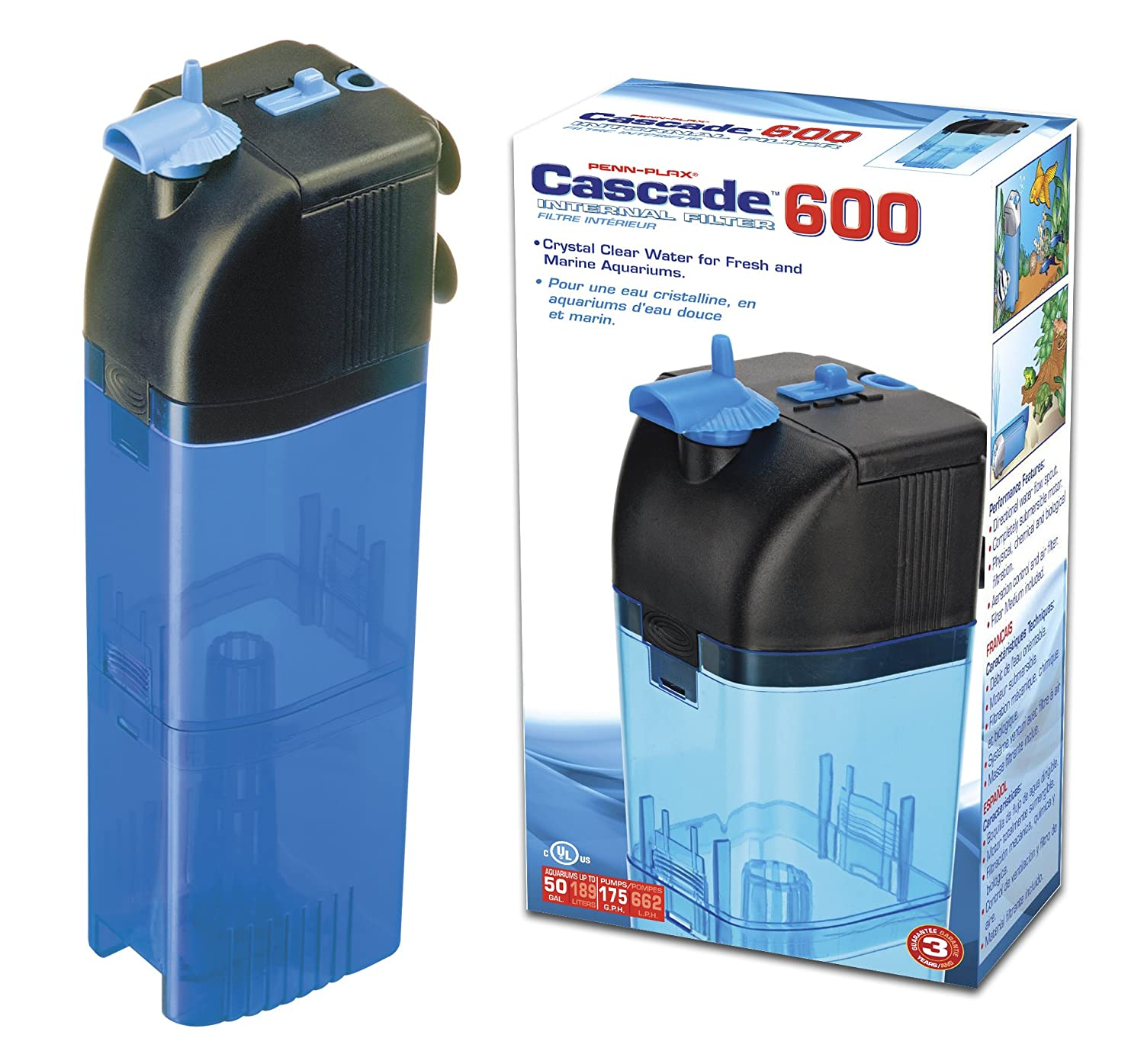 Penn Plax Cascade 600 Internal Filter for Aquariums by Penn-Plax B0002DJLFK