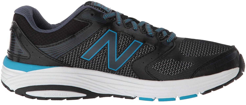 New Balance Women's W560v7 Cushioning Running Shoe B0751GPZ11 12 D US|Black/Blue