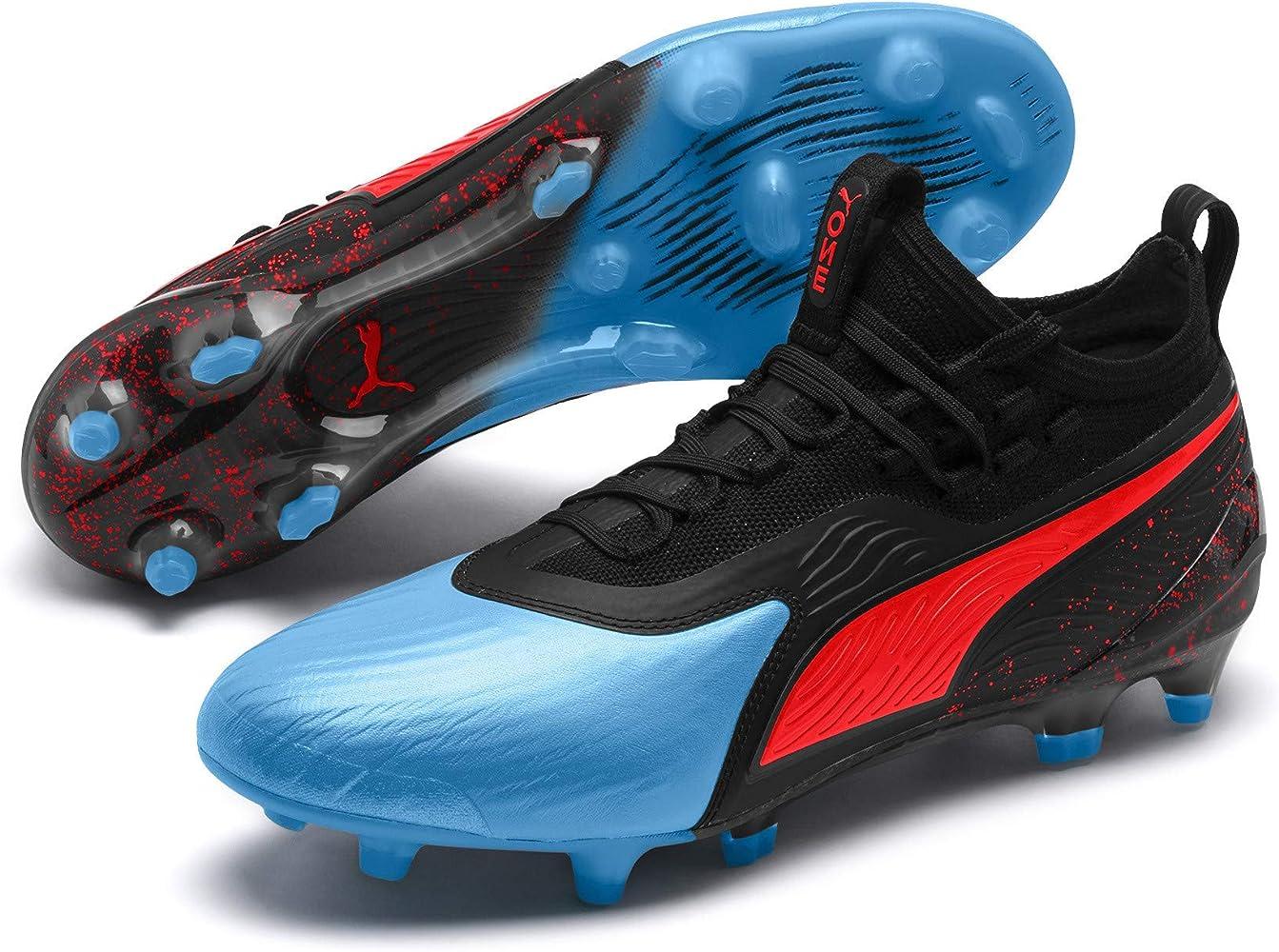 nouvelle arrivee 8a068 5414d Puma One 19.1 FG/AG, Chaussures de Football Homme, (Bleu ...