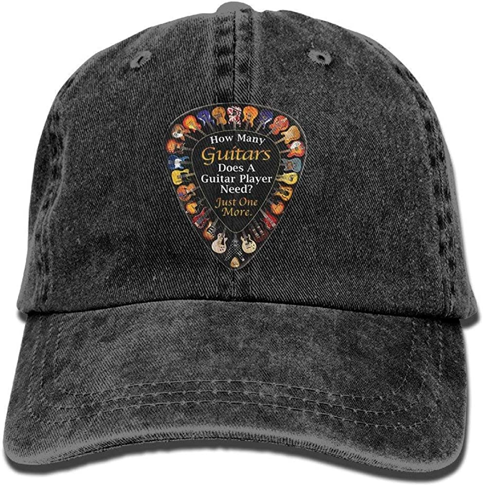 Men Women Vintage Cotton Denim Baseball Cap You Can Never Have Too Many Guitars-2 Snapback Cap