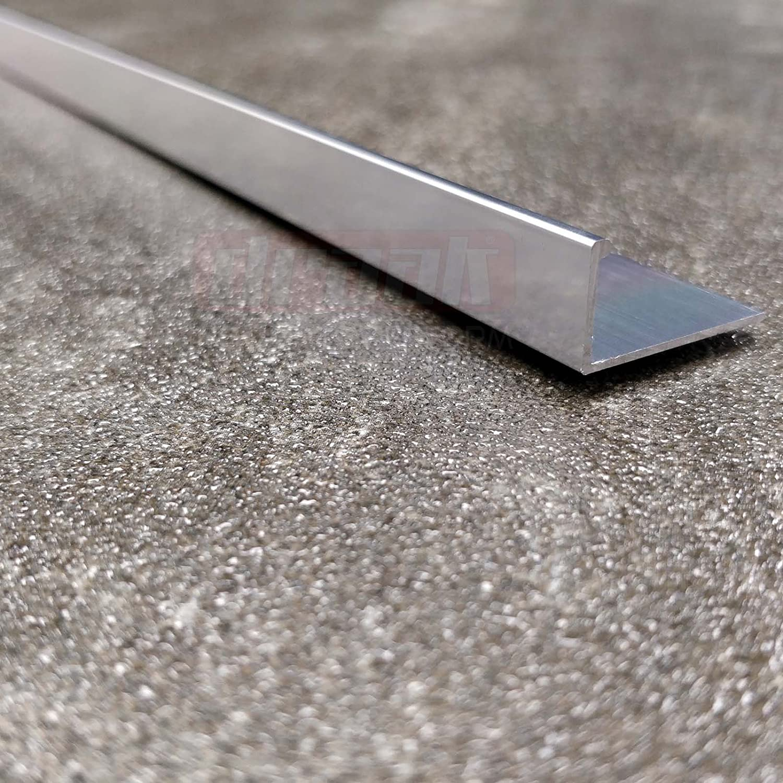 Tile Trim 8mm Aluminium Chrome L Shaped Heavy Duty 2.44m x 5 Lengths
