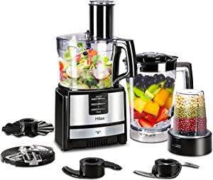 Food Processor Blender - Kitchen Food Processor ,Chopper, Blender Food Processor Combo,Multi Mixer Machine with Dough Blade 550W