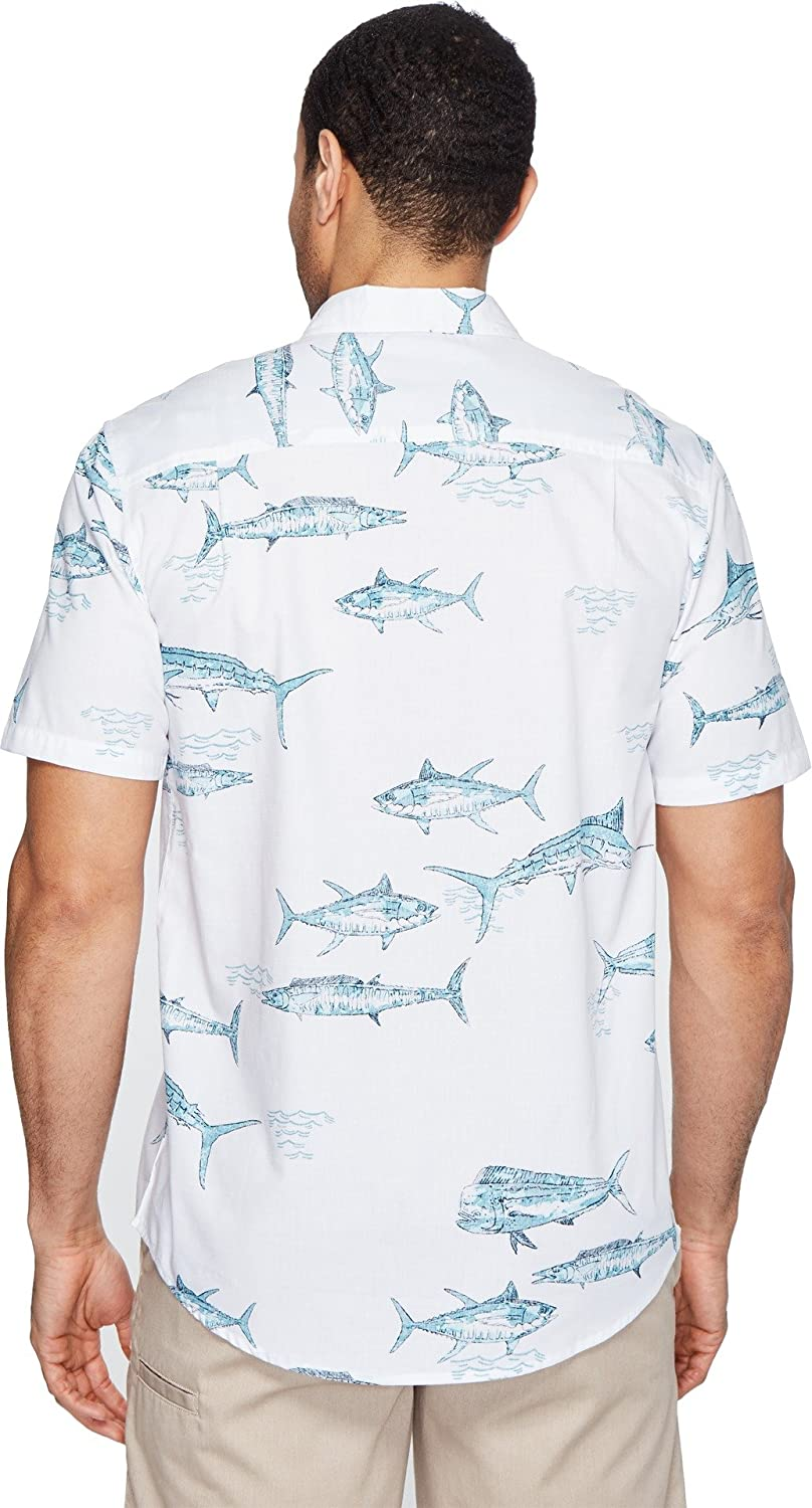 Jack ONeill Mens Fish N Chips Wovens White Shirt