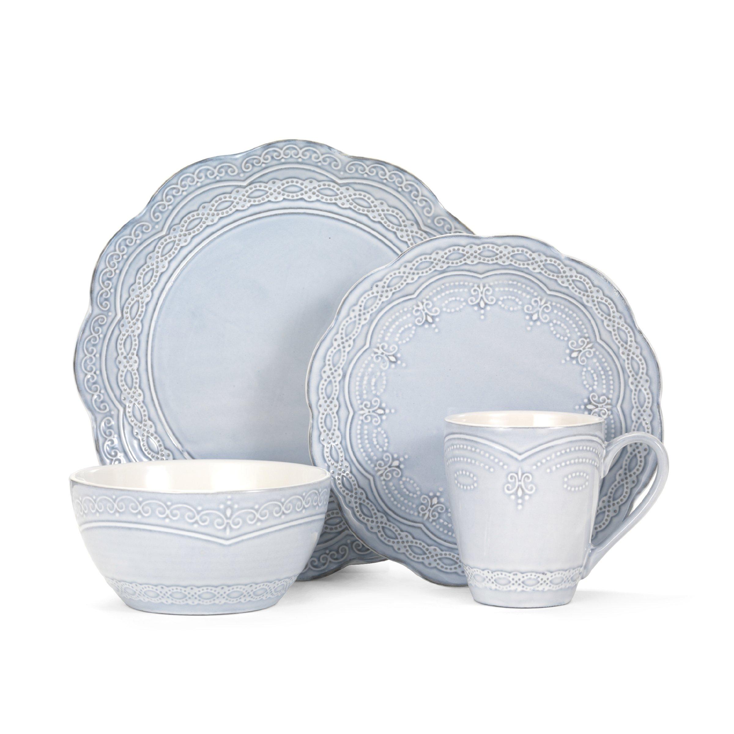 Pfaltzgraff Seraphina 16-Piece Stoneware Dinnerware Set, Service for 4