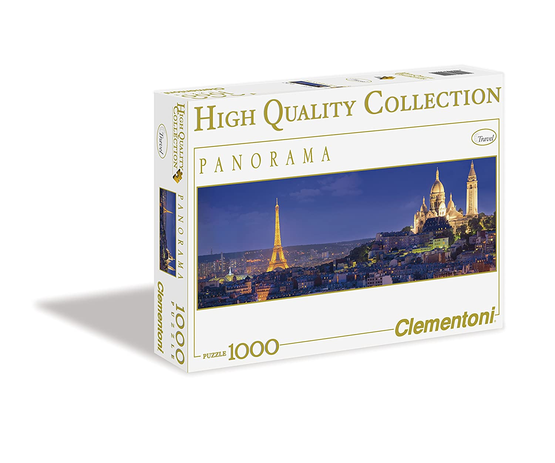 【保障できる】 1000ピース ジグソーパズル 33×98cm Clementoni パリの夜