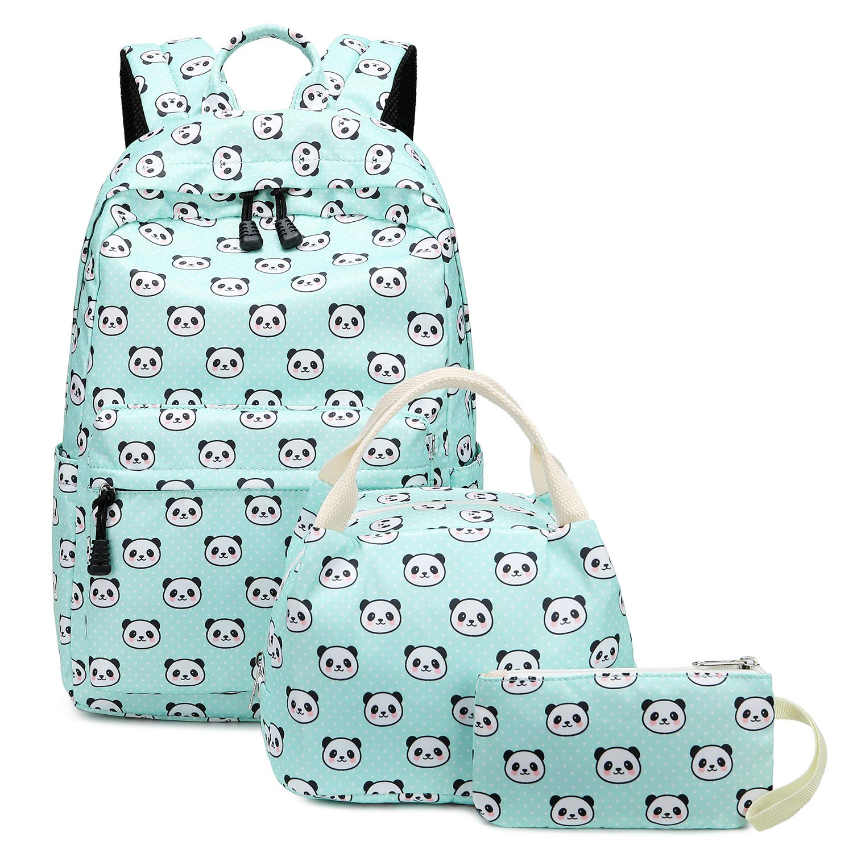 7aeeba897fb Abshoo Lightweight Cute Panda Backpacks for Girls School Backpacks With  Lunch Bag (3pc Panda Teal)