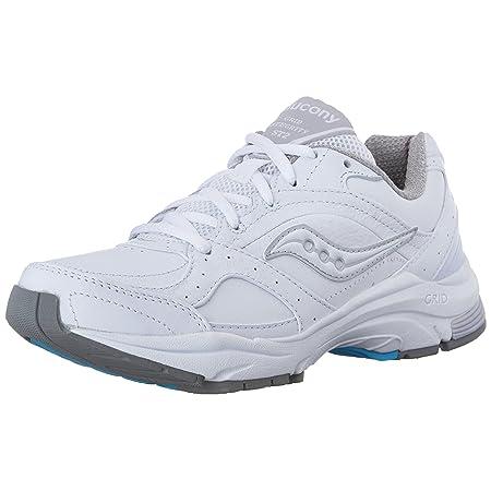 Saucony Women's ProGrid Integrity ST2 Walking Shoe,White/Silver,5 B(M) US