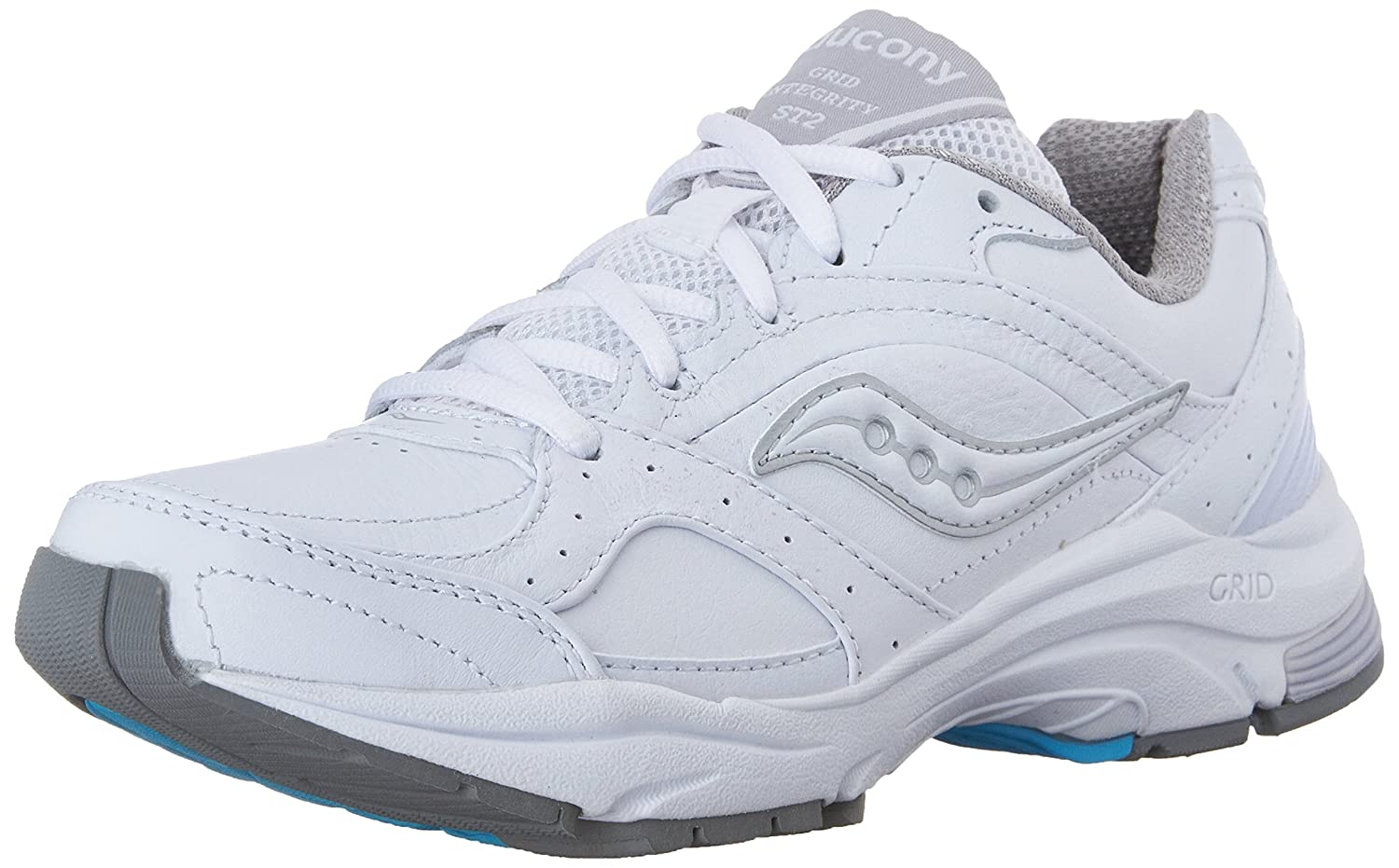 Saucony Women's ProGrid Integrity ST2 Walking Shoe B00413QUPQ 7 D US|White/Silver