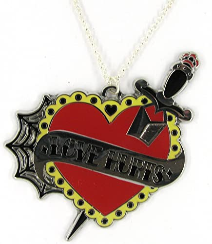 Joyería colgante señorías con cadena Love Hurts con daga tatuaje 4 ...