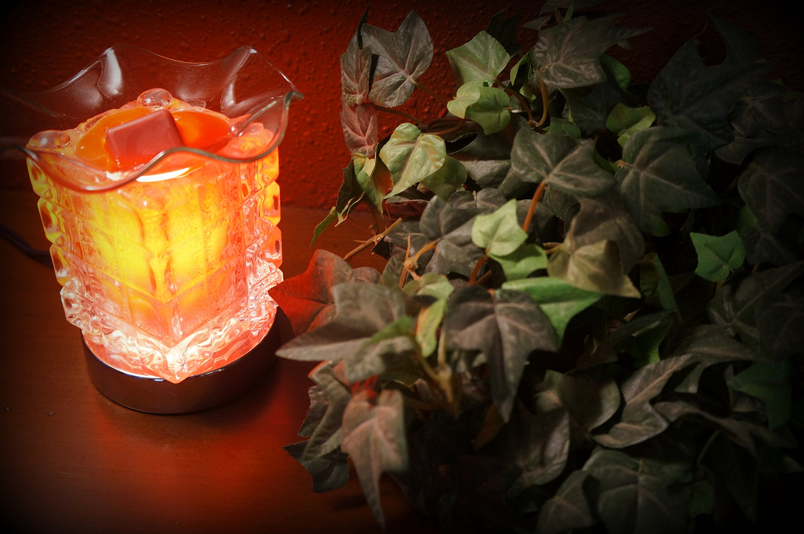 Coo Candles Touch Lamp - Electric Candle or Tart Wax Melt Warmer or Oil Burner - Diamond