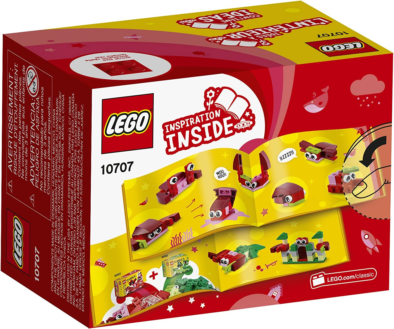 LEGO Classic Quad Pack 10706 Blue 10707 Red 10708 Green 10709 Orange ALL NEW