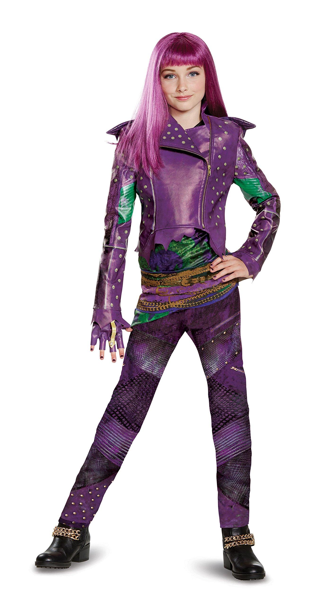 Disguise Mal Prestige Descendants 2 Costume, Purple, Medium (7-8)