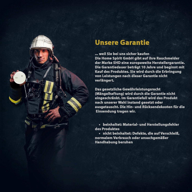 detectores de incendios con certificado EN14604 y NF Detectores de humo Set de 6 con bater/ías de 9V; alarmas para su hogar alarmas de incendio