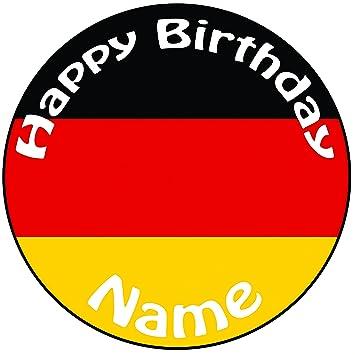 Personalisierter Deutschland Flagge Zuckerguss Kuchen Topper